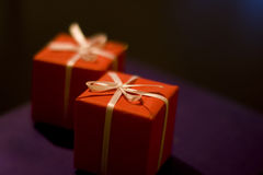 RED GIFT OF LOVE Royalty Free Stock Images