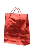 Red gift paper bag. Royalty Free Stock Image