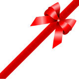 Red gift , ribbon Royalty Free Stock Images