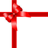 Red gift , ribbon Royalty Free Stock Image