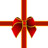 Red gift , ribbon Royalty Free Stock Photography