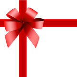 Red gift , ribbon. And white background Royalty Free Stock Photos