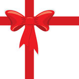 Red gift ribbon. A  illustration for your design project. very easy to edit  file Royalty Free Stock Photography