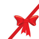 Red gift ribbon. A  illustration for your design project. very easy to edit  file Royalty Free Stock Photos