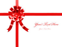 Red gift ribbon. On isolated on white Royalty Free Stock Photography