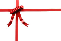 Red gift ribbon. On isolated on white Stock Photos
