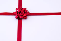 Red gift ribbon royalty free stock photography