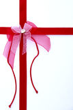 Red gift ribbon Stock Image