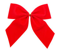 Red Gift Ribbon. On White Background Easily Isolated for Your Project Royalty Free Stock Photography