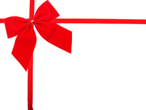 Red Gift Ribbon. On White Background Easily Isolated for Your Project Royalty Free Stock Photos