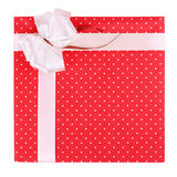 Red gift with ribbon Royalty Free Stock Photos