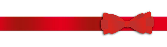 Red gift ribbon. Illustration on a white background Royalty Free Stock Images