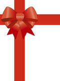 Red gift ribbon Royalty Free Stock Images