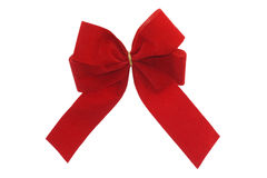 Red gift ribbon. Isolated on white background Stock Images