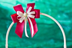 Red gift ribbon on arc Stock Image