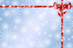 Red Gift Ribbon Background Stock Image