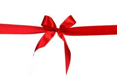 Red Gift Ribbon Bow Royalty Free Stock Image
