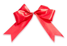 RED GIFT, RIBBON, BOW Stock Photos