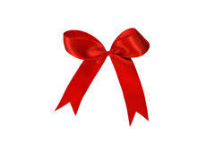 Red gift, ribbon, bow Stock Photo