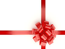 Red Gift Ribbon and Bow. On white background. Computer generated image with clipping path Stock Photography