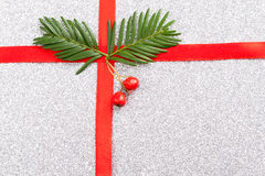 Red gift ribbon- bow Stock Images