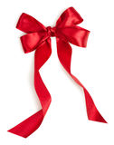Red gift ribbon bow. Isolated on white background Stock Photography