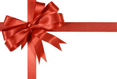 Red gift ribbon bow isolated on white background Stock Image