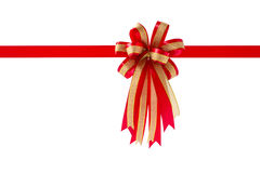 Red gift ribbon and bow, isolated on white background. Red gift ribbon and bow, isolated on white background , Clipping path included Stock Photography
