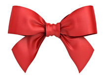 Red gift ribbon bow isolated on white background Royalty Free Stock Photos
