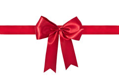 Red Gift Ribbon & Bow Stock Photography