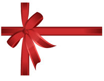 Red gift, ribbon, bow / vector. Red cross ribbon and bow. Vector file available Stock Image