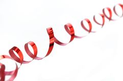 Red gift ribbon Stock Image