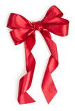 Red gift ribbon. Isolated on white background Stock Photo