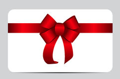 Red Gift Ribbon. Vector illustration. EPS10 Royalty Free Stock Images