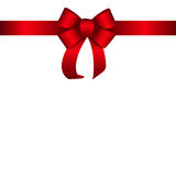 Red Gift Ribbon. Vector illustration. EPS10 Stock Photo