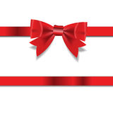 Red Gift Ribbon . Vector illustration Royalty Free Stock Photo