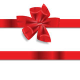 Red Gift Ribbon . Vector illustration Stock Photo