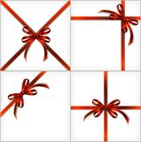 Red Gift Ribbon. Vector set backgrounds eps10 Royalty Free Stock Photography