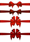 Red Gift Ribbons Stock Photos