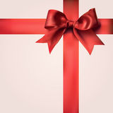 Red Gift Ribbons with Bow Royalty Free Stock Image