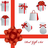 Red gift set Stock Images