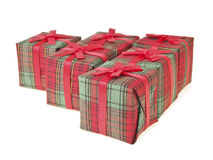 Red gift set Royalty Free Stock Photos