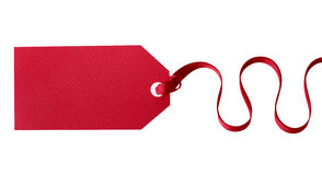 Red gift tag Royalty Free Stock Photo