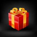 Red gift. Vector Royalty Free Stock Image