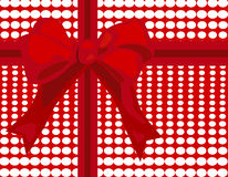 Red Gift Wrap Background Stock Photos