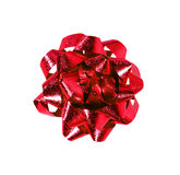 Red gift wrap bow Stock Images