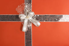 Red gift wrapping (with clipping path) Royalty Free Stock Photo