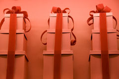 Red gift wraps royalty free stock image