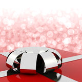 Red Giftbox With Bokeh Background Stock Images