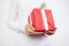 Red giftbox Stock Images